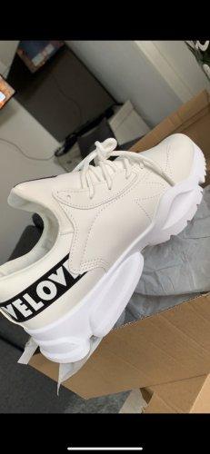 100% Fashion Basket à lacet blanc