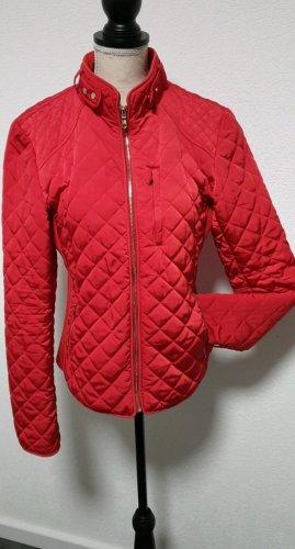 Zara Quilted Jacket brick red