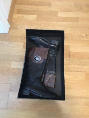 Gerry Weber Botte à plateforme gris brun-noir