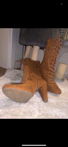 Catwalk High Heel Boots cognac-coloured