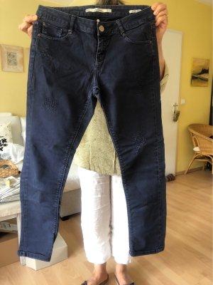 Zara Woman Pantalon fuselé bleu