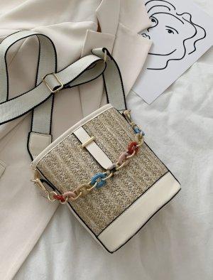 100% Fashion Torebka mini biały-jasnobeżowy