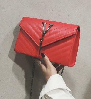 100% Fashion Borsetta rosso