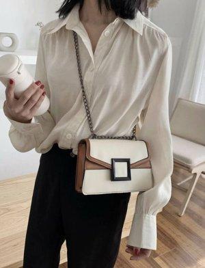100% Fashion Torebka mini biały-beżowy