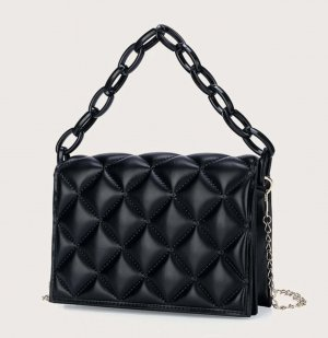 100% Fashion Sac bandoulière noir
