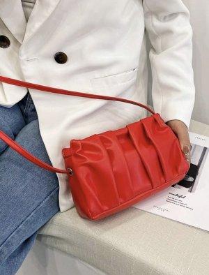 100% Fashion Gekruiste tas rood