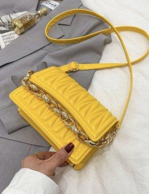 100% Fashion Gekruiste tas geel