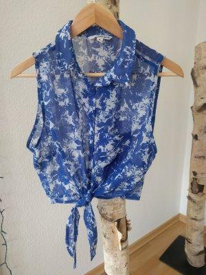 Tally Weijl Bandeau top wit-blauw