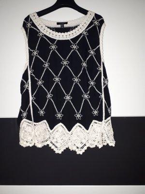 New Look Top linea A nero-bianco sporco