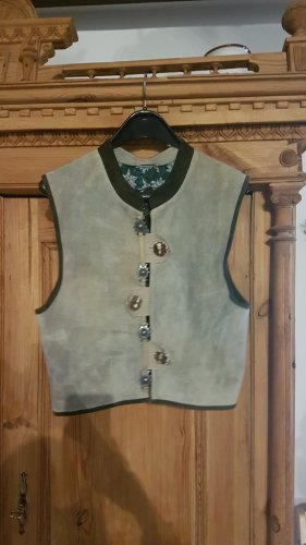 Traditional Vest ocher-brown leather