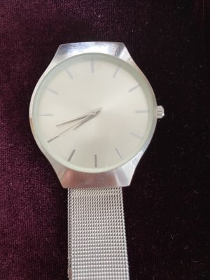 H&M Watch With Metal Strap silver-colored