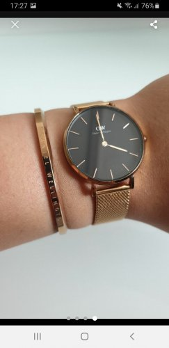 Daniel Wellington Watch With Metal Strap black-rose-gold-coloured