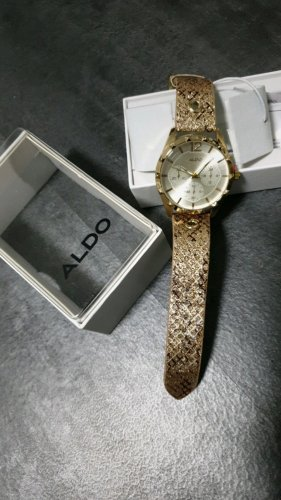 Aldo Montre analogue doré-brun