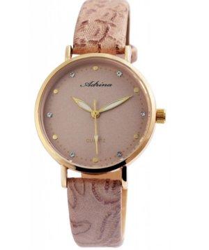 Montre avec bracelet en cuir or rose