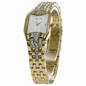 Carpe Diem Montre avec bracelet métallique jaune fluo-blanc métal