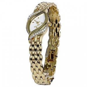 Carpe Diem Montre avec bracelet métallique blanc-jaune fluo métal