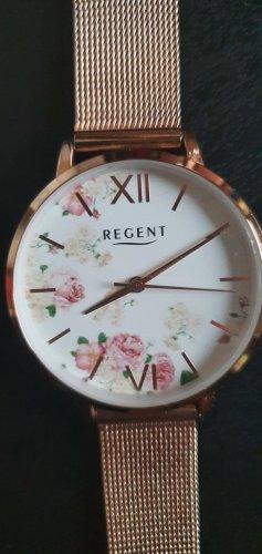 Regent Reloj con pulsera metálica color rosa dorado-rosa
