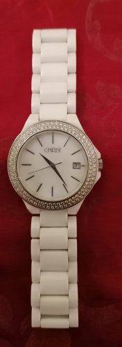 Christ Watch With Metal Strap natural white