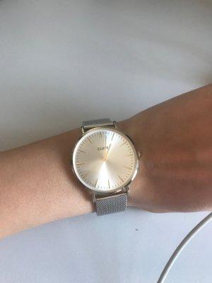 Cluse Horloge met metalen riempje zilver-rosé Metaal