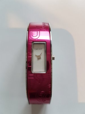 Damenuhr DKNY pink Edelstahl