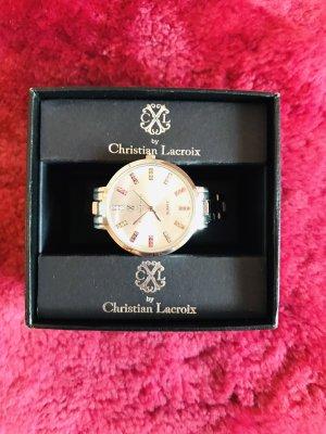 Christian Lacroix Horloge met metalen riempje zilver