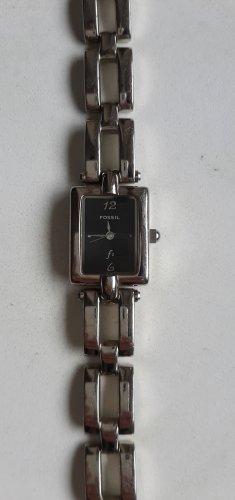 Fossil Horloge met metalen riempje zwart-zilver