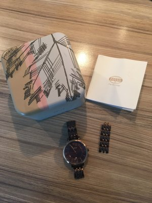 Fossil Watch With Metal Strap bronze-colored metal
