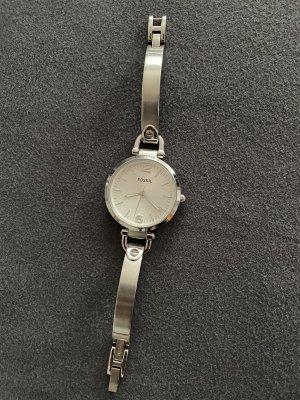 Fossil Horloge met metalen riempje zilver