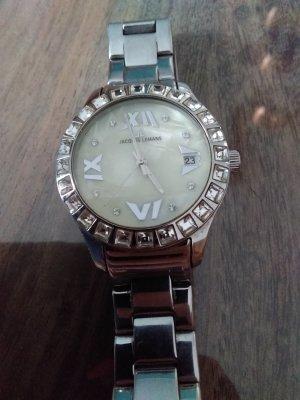 Jacques Lemans Horloge met metalen riempje zilver
