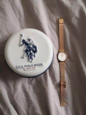 U.s. polo assn. Zegarek analogowy w kolorze różowego złota Metal