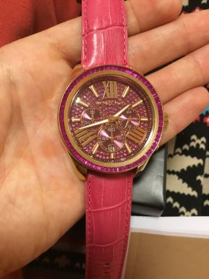 Michael Kors Analog Watch gold-colored-violet leather