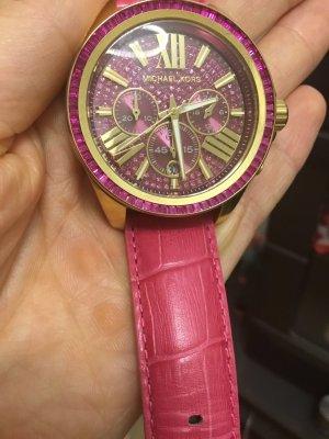 Damenuhr Michael Kors, pink Crystal, Original