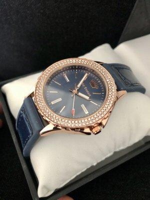 Juicy Couture Zegarek analogowy w kolorze różowego złota-ciemnoniebieski