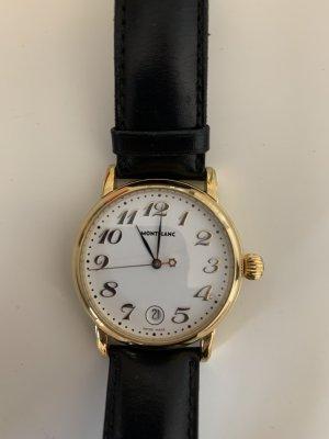 Montblanc Orologio con cinturino di pelle oro-nero