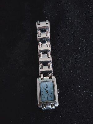 Quartz Reloj analógico color plata metal