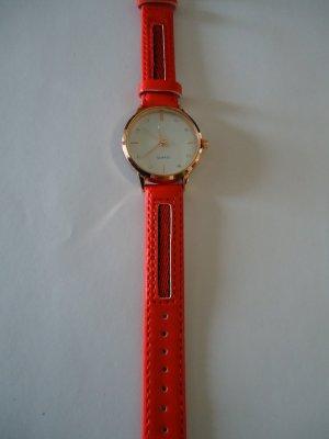 Analoog horloge neonrood
