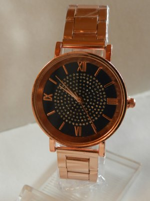 Silvity Analog Watch rose-gold-coloured-dark blue metal