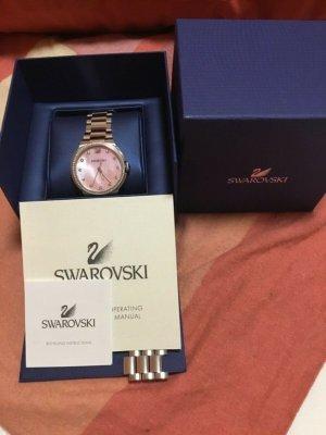 Swarovski Zegarek analogowy jasnoszary-jasny różowy