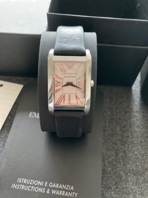 Emporio Armani Watch With Leather Strap multicolored leather
