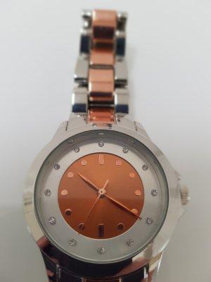 lbvyr Watch With Metal Strap rose-gold-coloured-dark orange