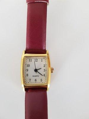 Zegarek ze skórzanym paskiem Wielokolorowy