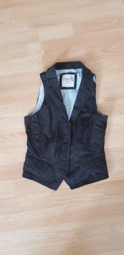 Esprit Gilet en jean noir coton