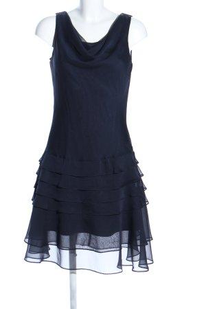Damiani Vestido estilo flounce azul oscuro estilo fiesta