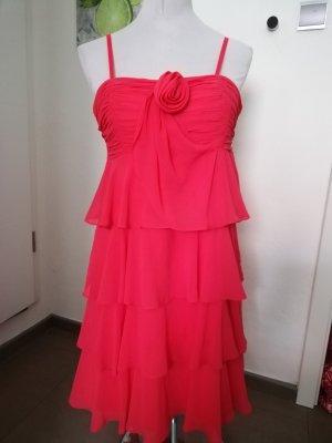 Damiani Vestido estilo flounce rojo claro