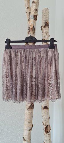 H&M Tiulowa spódnica brąz-szary
