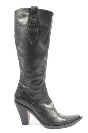 damy Boots western noir style décontracté