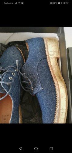 Another A Sznurowane buty niebieski
