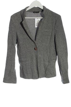 DANI Knitted Blazer light grey flecked casual look