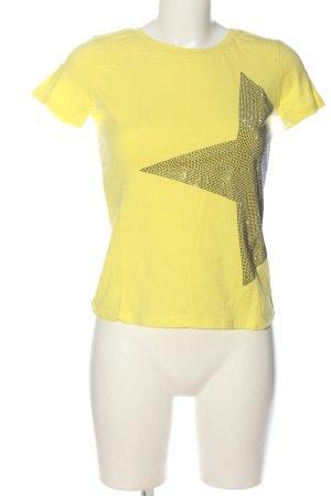 DANI Camiseta amarillo pálido-negro look casual