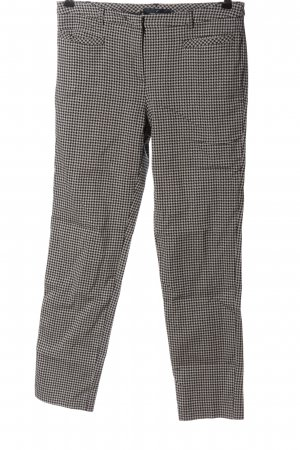 Daniel Hechter 7/8 Length Trousers black-light grey check pattern casual look